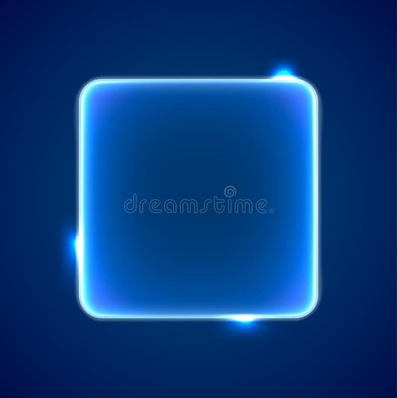 抽象蓝色方形的占位符 皇族释放例证
