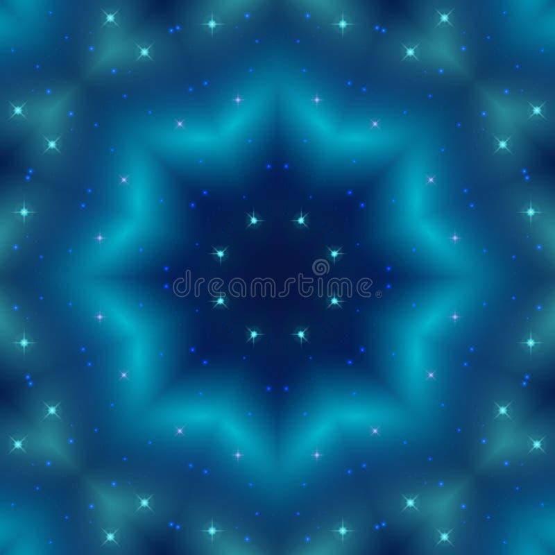 抽象蓝色无缝的样式背景 向量例证
