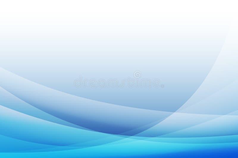 抽象蓝色曲线背景,传染媒介,例证 向量例证