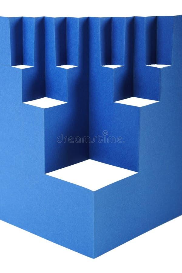 抽象蓝色构成纸张 免版税库存照片