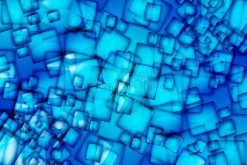 抽象蓝色正方形 库存照片