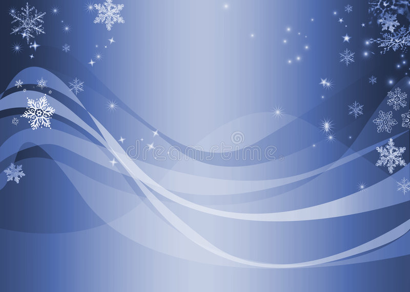 抽象蓝色波浪冬天 库存例证