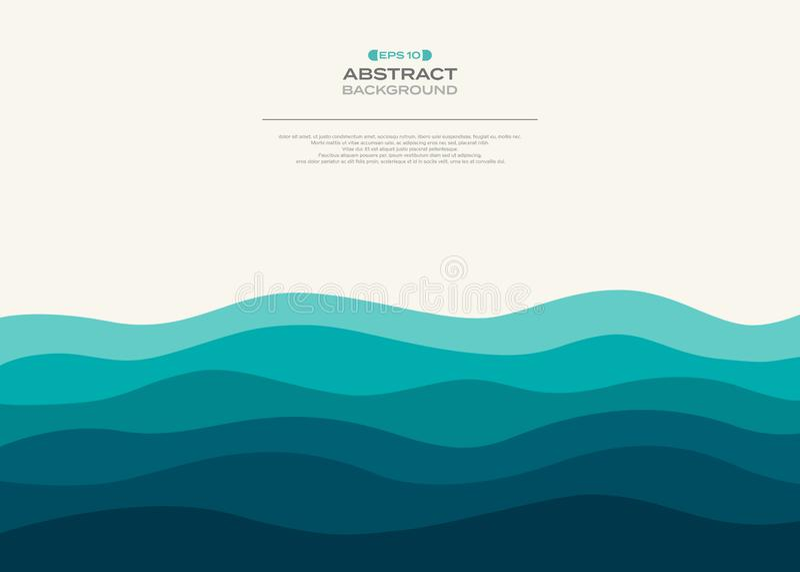 抽象蓝色波浪海背景  库存例证