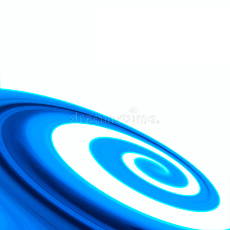 抽象蓝色漩涡背景 库存例证