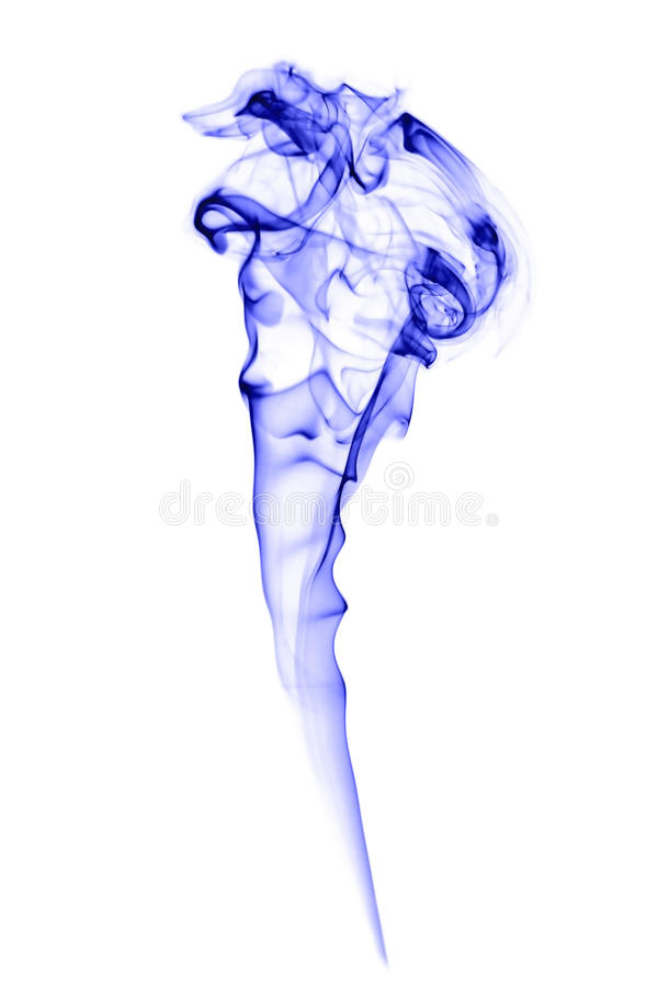 抽象蓝色烟 库存图片