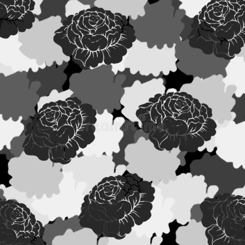 抽象蓝色玫瑰样式 皇族释放例证