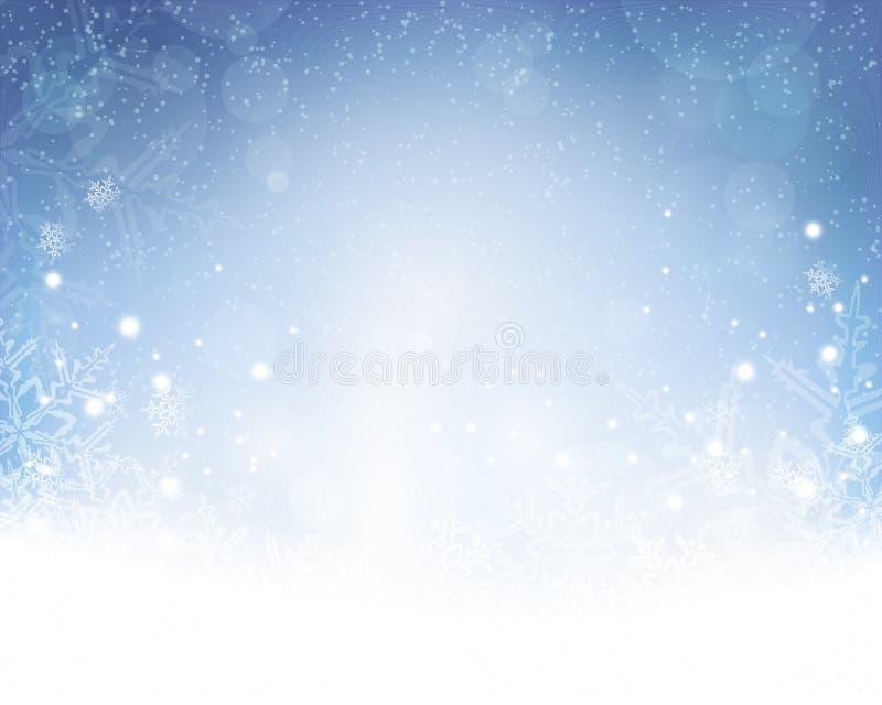 抽象蓝色白色圣诞节,冬天背景 皇族释放例证