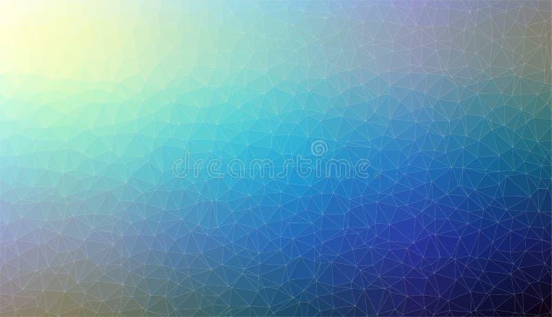 抽象蓝色第2马赛克三角背景 库存例证