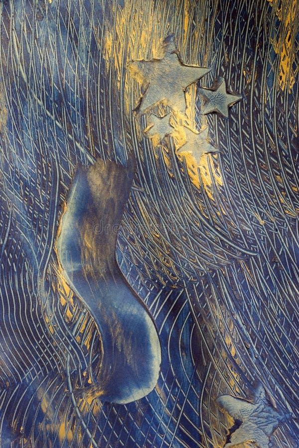 抽象蓝色绘画星形 图库摄影