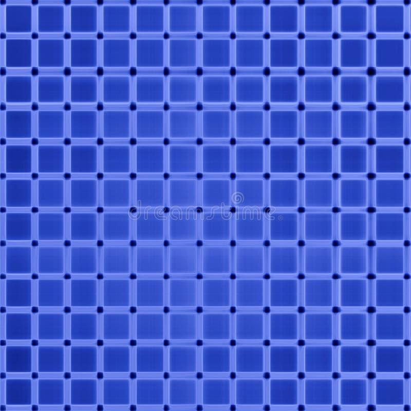 抽象蓝色网格图形 向量例证
