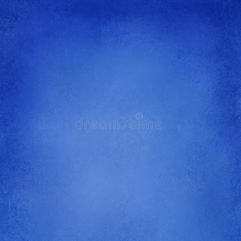 抽象蓝色背景纹理,与织地不很细油漆grung的坚实明亮的蓝色葡萄酒纸例证 皇族释放例证