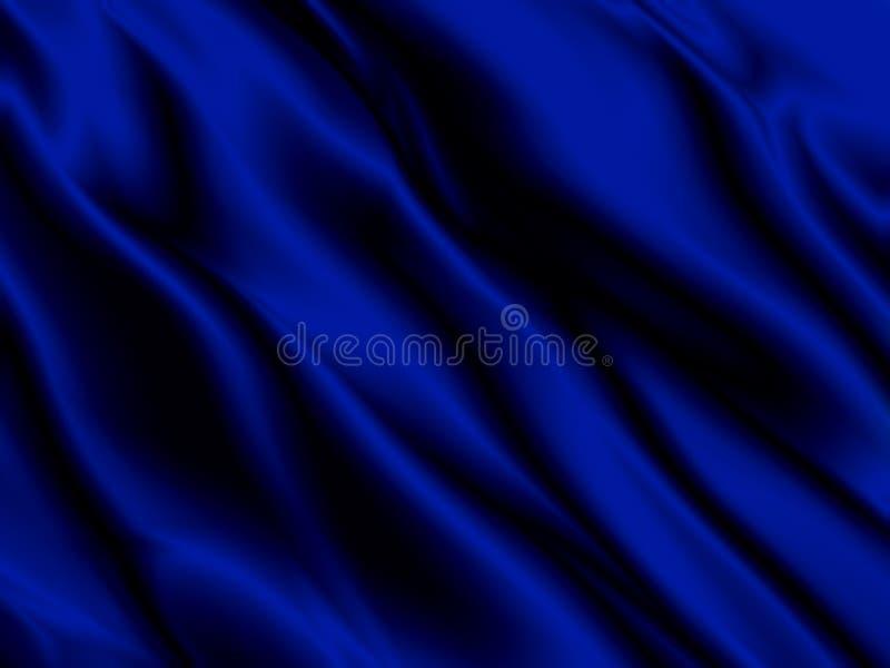 抽象蓝色背景豪华布料或难看的东西丝绸纹理缎天鹅绒材料或豪华关闭液体波浪  库存图片