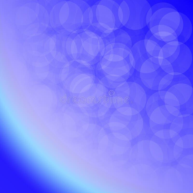 抽象蓝色背景-地球的大气 皇族释放例证