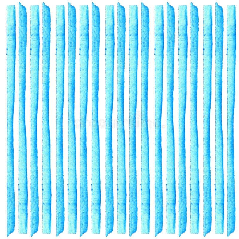 抽象蓝色背景 镶边水彩 手画小条 创造性的贺卡模板 库存照片
