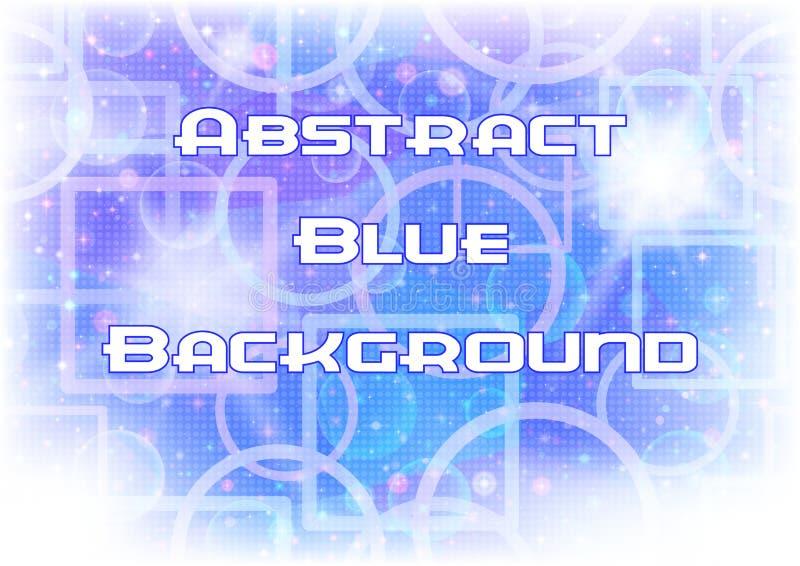 抽象蓝色背景 皇族释放例证
