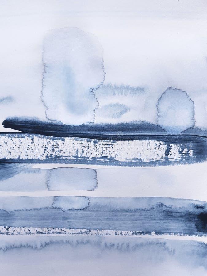 抽象蓝色艺术绘的背景 图库摄影