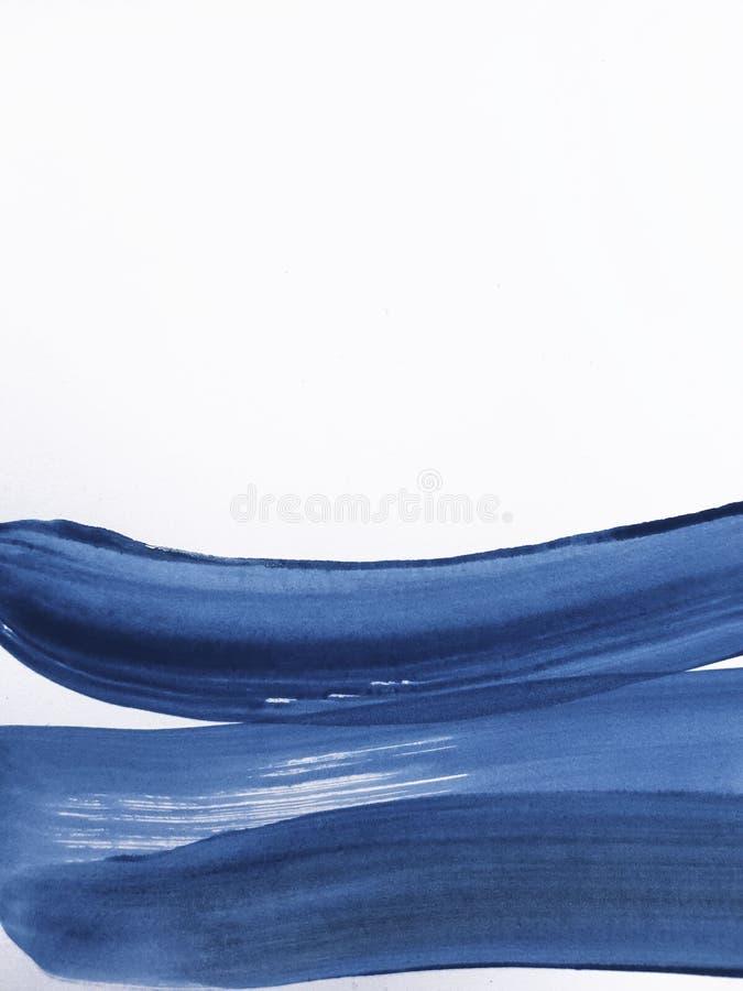 抽象蓝色艺术绘的背景 库存图片