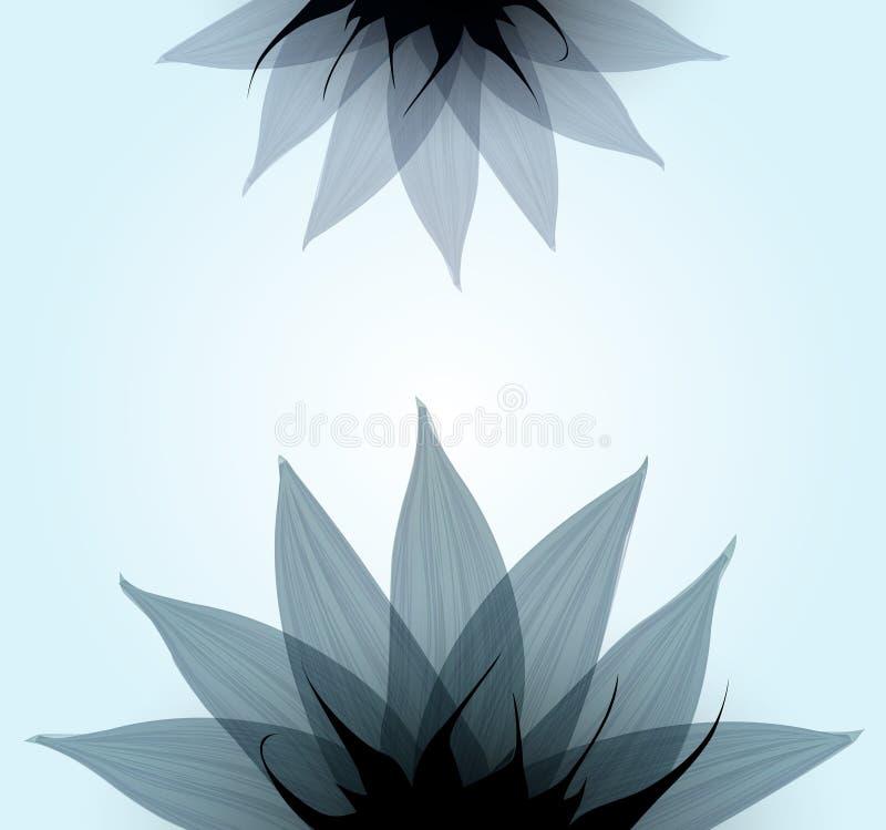 抽象蓝色花。传染媒介 皇族释放例证