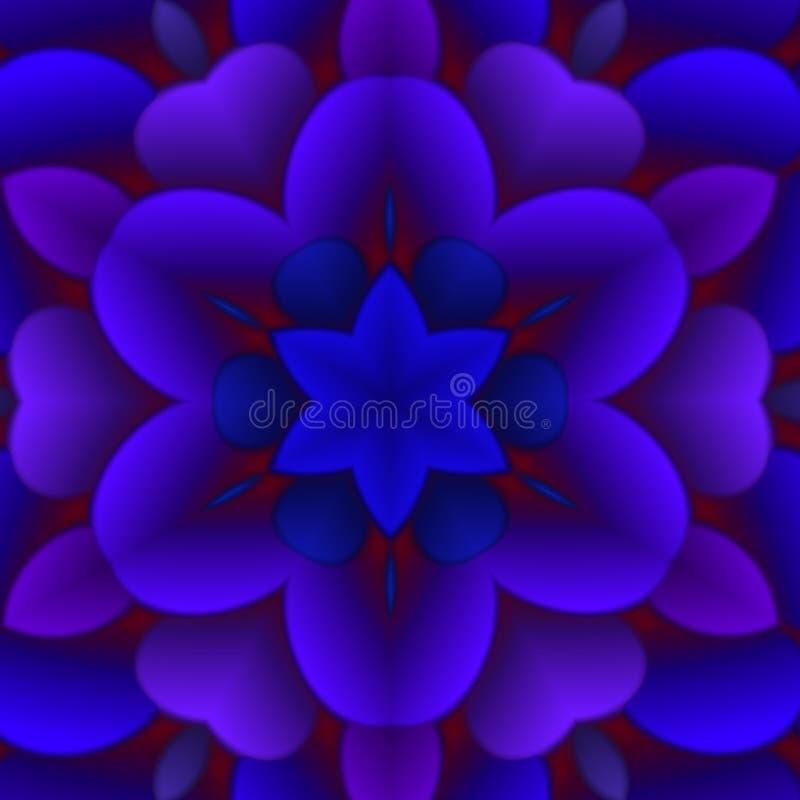 抽象蓝色花卉图象 向量例证