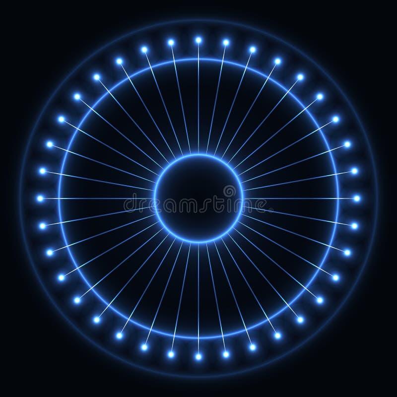 抽象蓝色轮子 库存图片