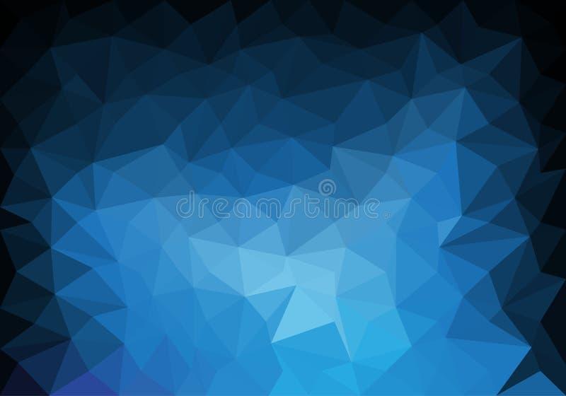 抽象蓝色音色多角形豪华背景传染媒介 向量例证