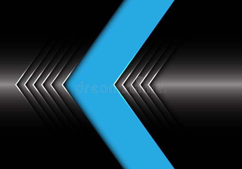 抽象蓝色黑暗的金属箭头设计现代未来派背景纹理传染媒介 向量例证