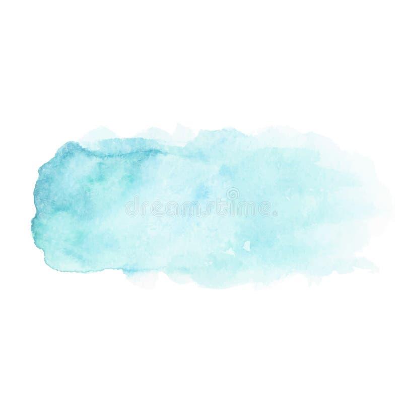 抽象蓝色水彩污点 向量例证