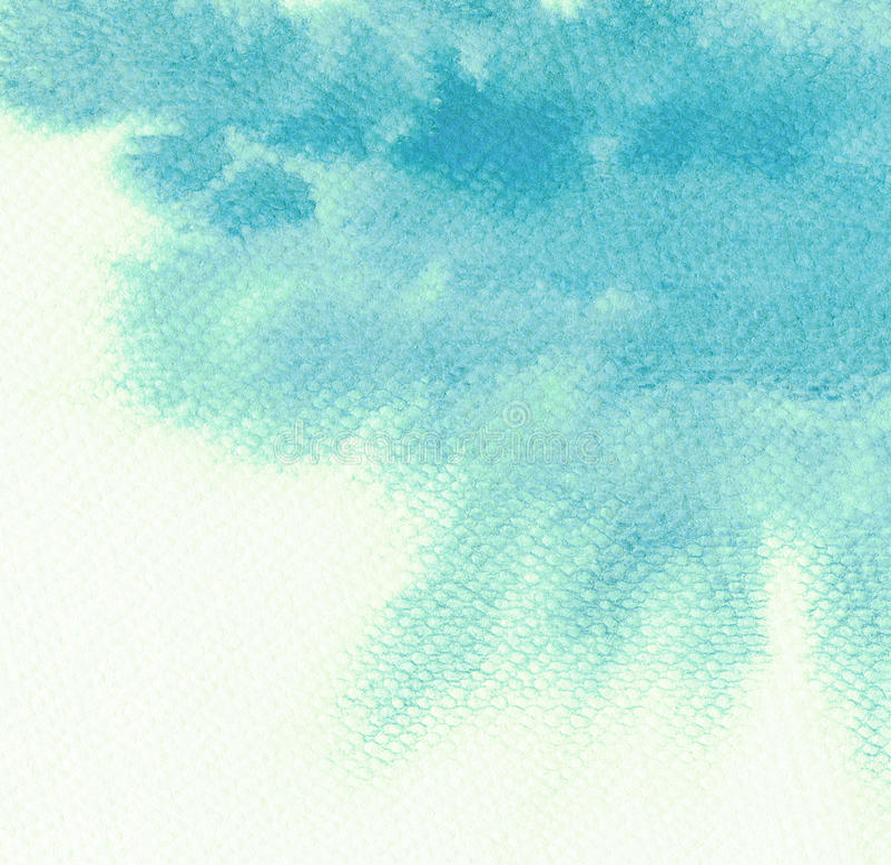 抽象蓝色水彩背景 向量例证