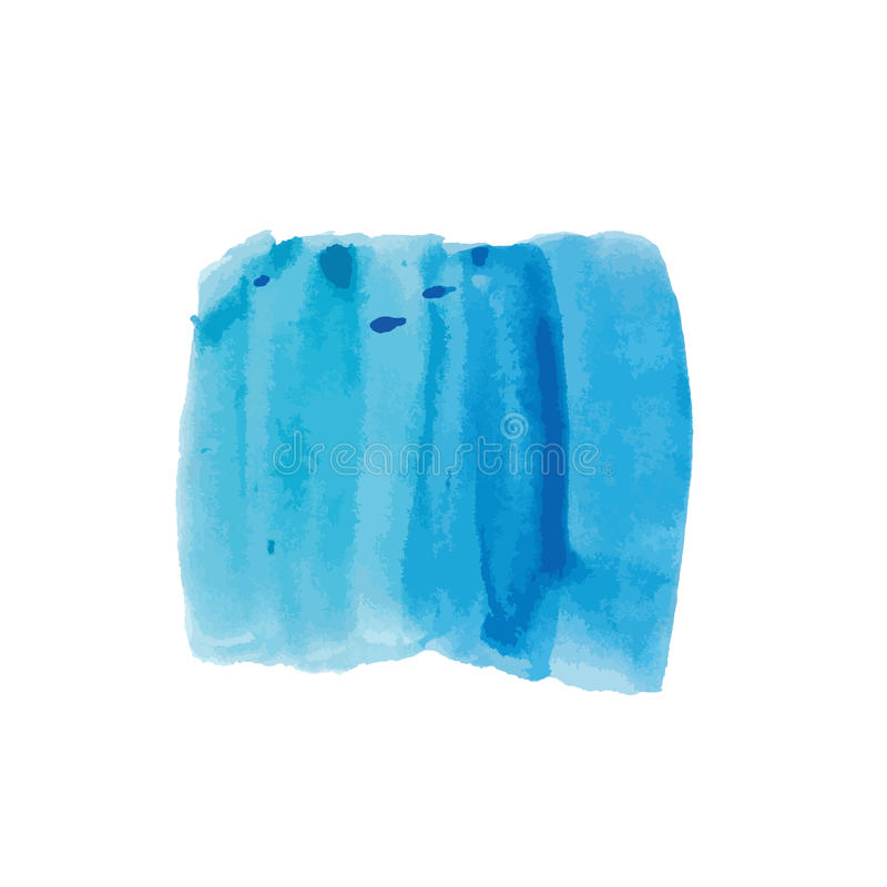 抽象蓝色水彩 库存图片