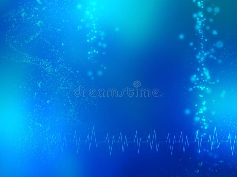 抽象蓝色医疗背景 向量例证