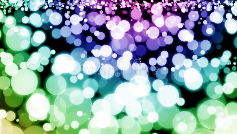 抽象蓝色紫色绿色五颜六色的bokeh墙纸 免版税图库摄影