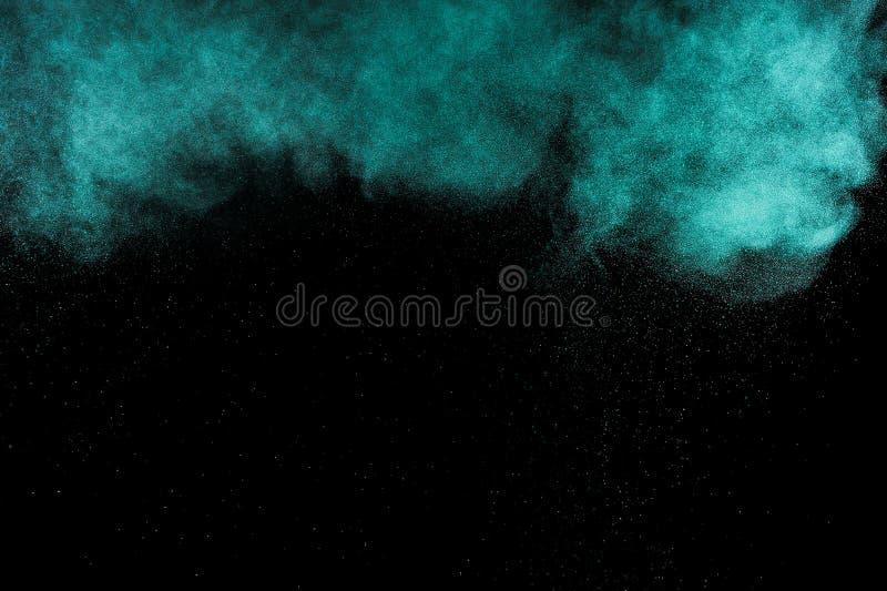 抽象蓝绿色油漆Holi 图库摄影