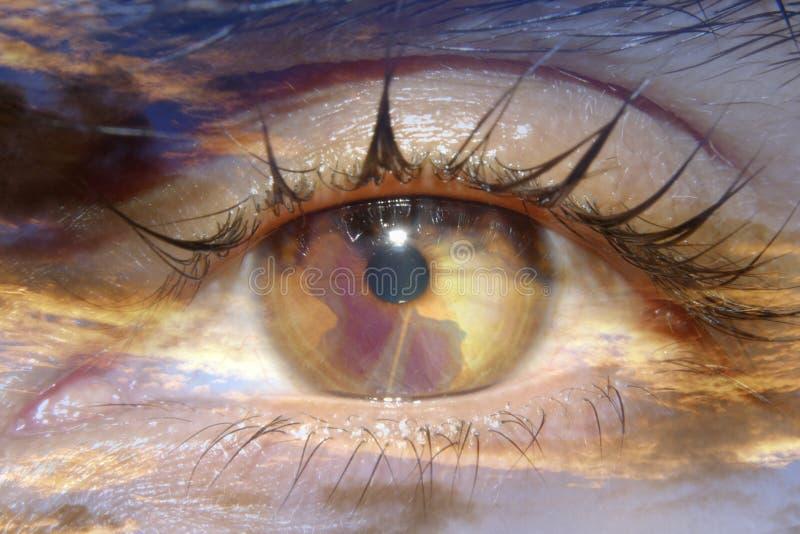 抽象虹膜世界 库存图片