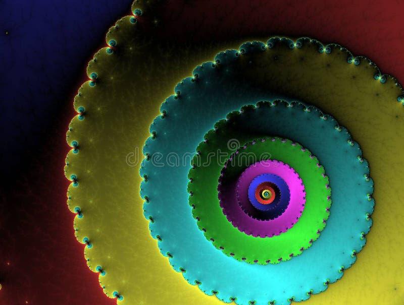 抽象蜗牛 库存例证