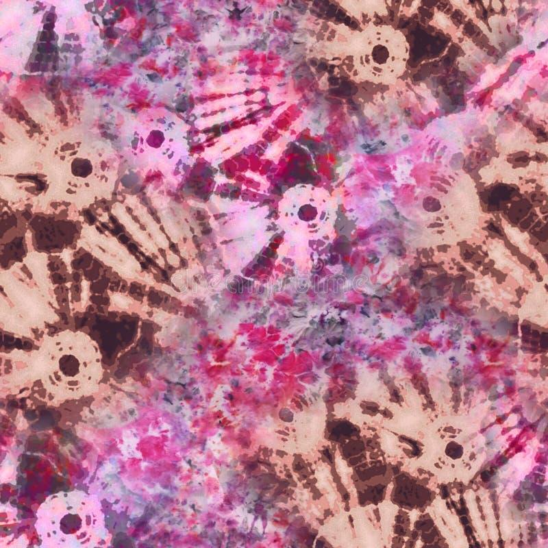 抽象蜡染布领带染料纺织品样式-例证 免版税图库摄影