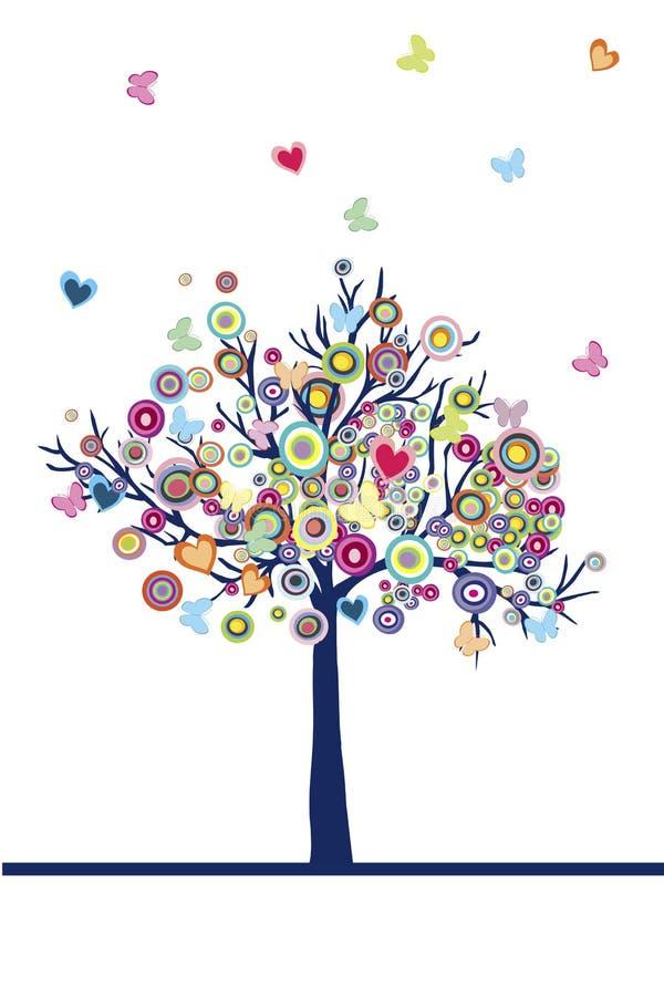 抽象蝴蝶上色了重点结构树 皇族释放例证