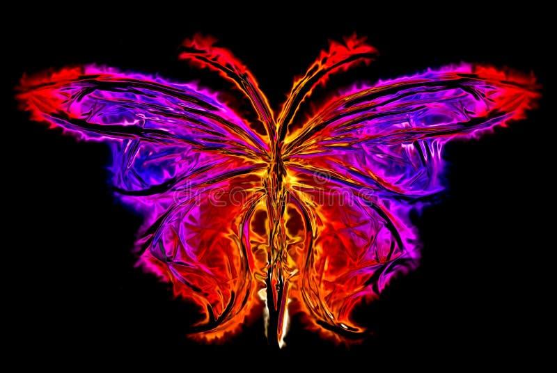 抽象蝴蝶剪影 库存例证