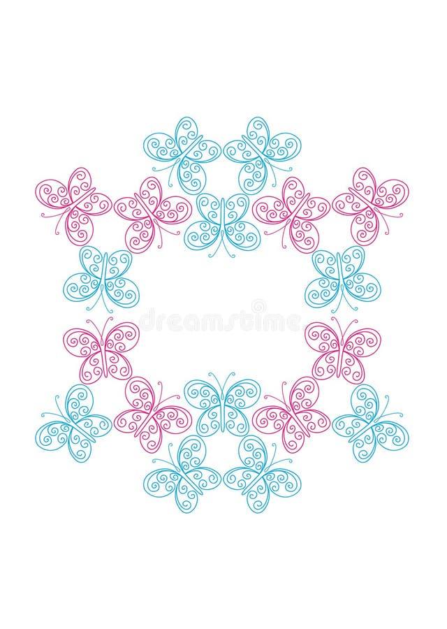 抽象蝴蝶框架 皇族释放例证
