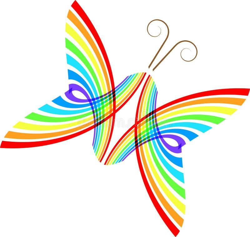 抽象蝴蝶 向量例证