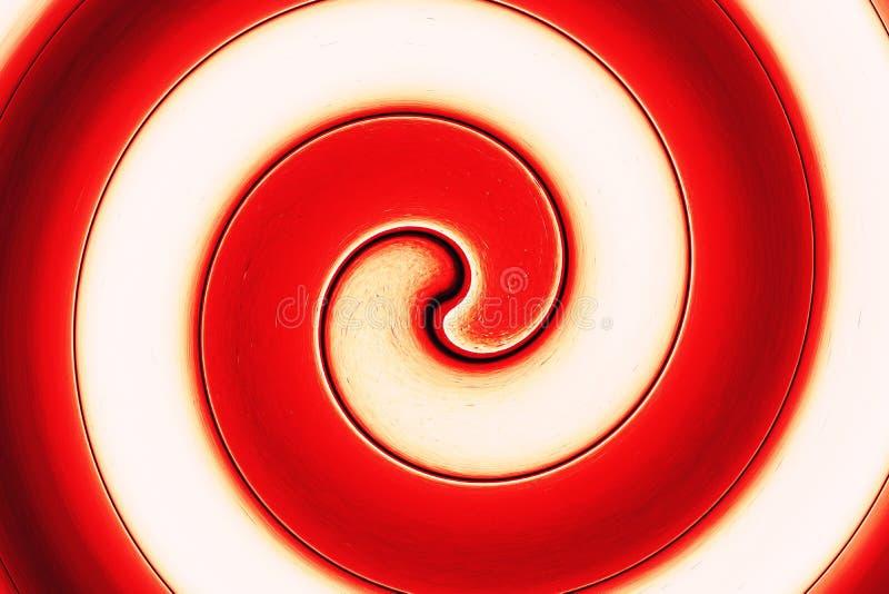 抽象螺旋明亮的红色 免版税图库摄影