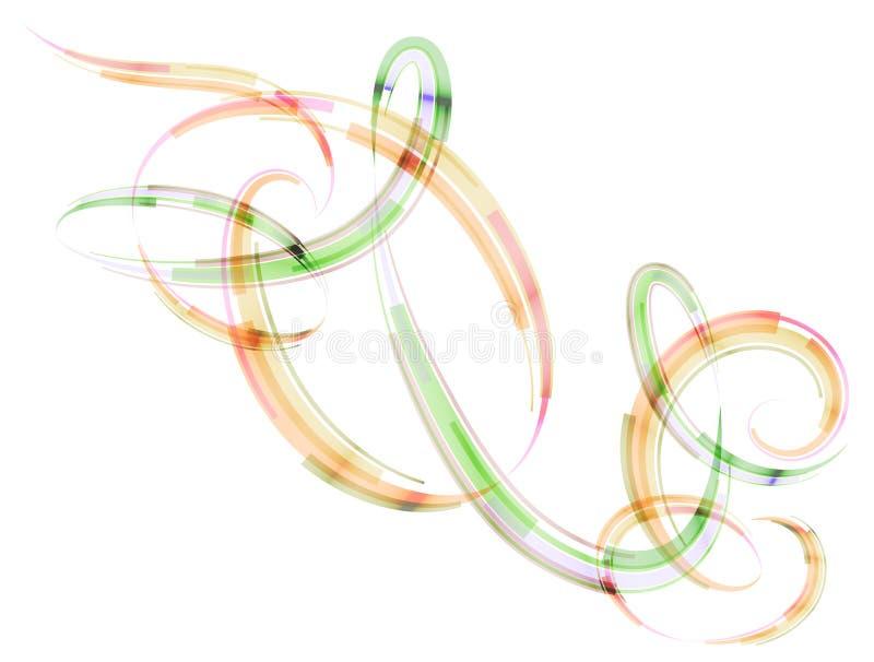 抽象螺旋条纹以圈和弧的形式 库存例证