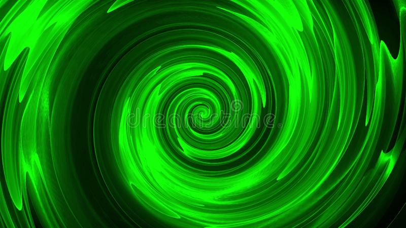 抽象螺旋转动的线,计算机生成,3D回报背景 库存例证