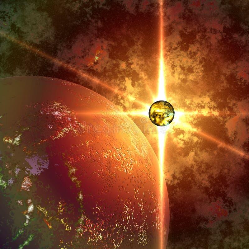 抽象行星星期日 皇族释放例证