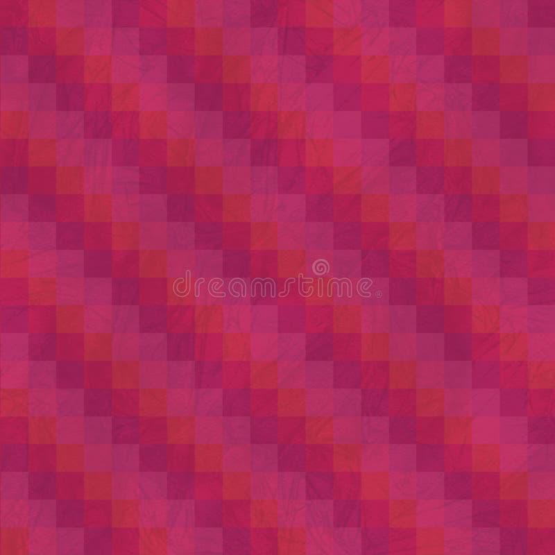 抽象补缀品镶边无缝的样式 红色和玫瑰色配色 免版税库存照片