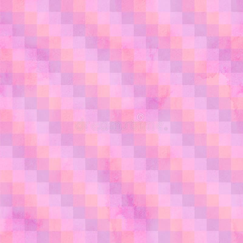 抽象补缀品镶边无缝的样式 红色和玫瑰色配色 向量例证