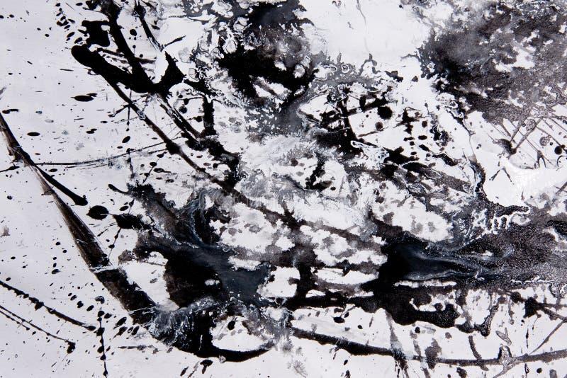 抽象表现主义样式 滴水绘画样式  染黑  向量例证