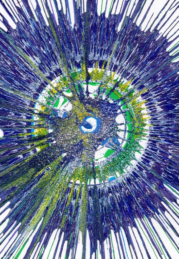 抽象表现主义绘画 皇族释放例证