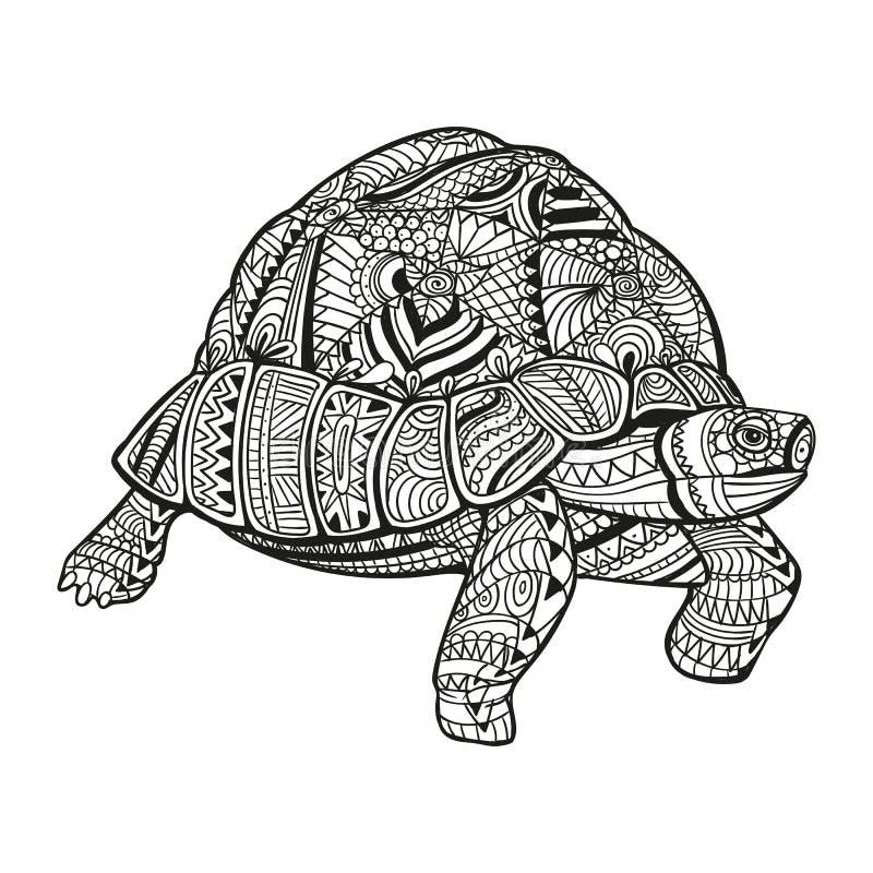 抽象装饰乌龟 库存例证