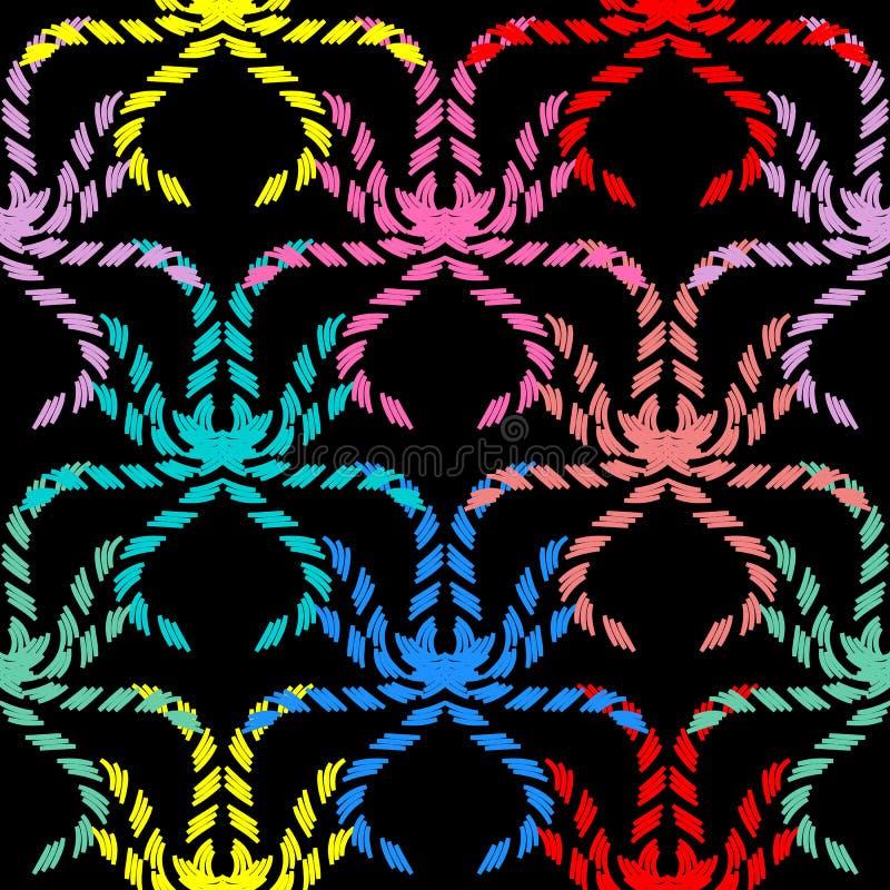 抽象装饰传染媒介无缝的样式 五颜六色的装饰物 皇族释放例证