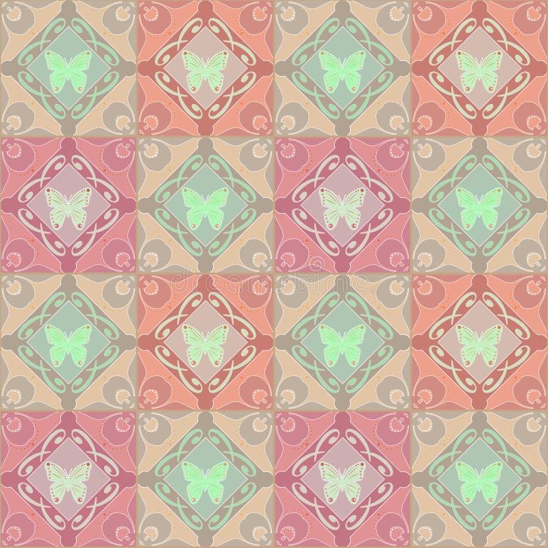 抽象装饰品无缝的几何样式 向量例证